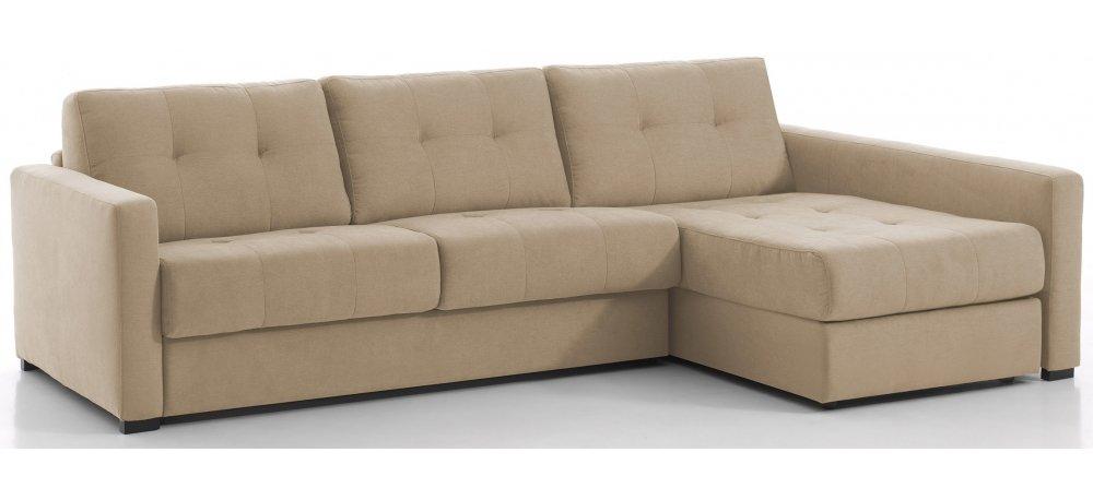 RENNES - Largeur 288 cm - Canapé d'angle convertible - Méridienne à droite - Couchage 160 cm