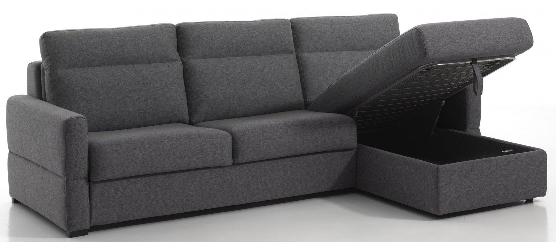 canap convertible d 39 angle rapido m ridienne et coffre de rangement. Black Bedroom Furniture Sets. Home Design Ideas
