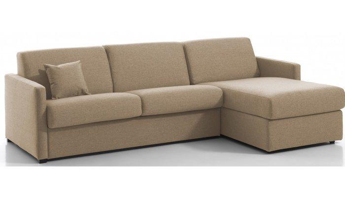 Canapé d'angle convertible MENTON - Largeur 268 cm - Couchage 140 cm