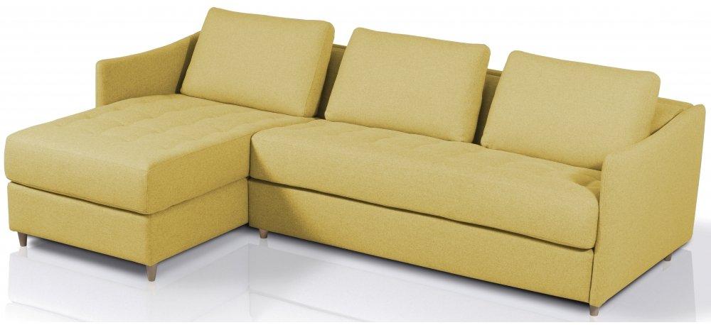 Canapé d'angle convertible SMILE - Largeur 280 cm - Couchage 140 cm