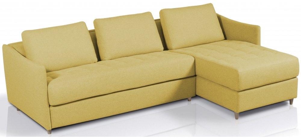 Canapé d'angle convertible SMILE - méridienne à droite - Largeur 280 cm - Couchage 140 cm