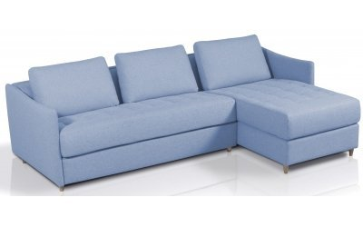 Canapé d'angle convertible SMILE - méridienne à droite - Largeur 260 cm - Couchage 120 cm