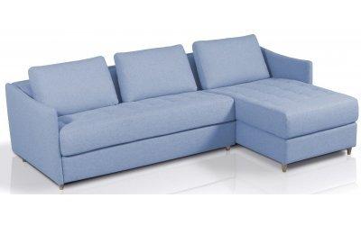 Canapé d'angle convertible SMILE - méridienne à droite - Largeur 300 cm - Couchage 160 cm