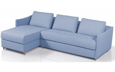 Canapé d'angle convertible SMILE - méridienne à gauche - Largeur 280 cm - Couchage 140 cm
