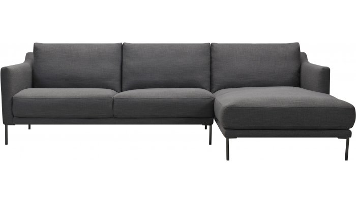 Canapé d'angle 4 places fixe ALISON avec méridienne à droite - Largeur 269cm