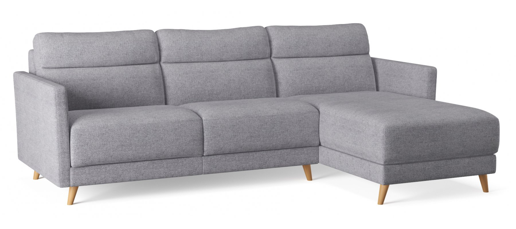 Canapé convertible 3 places PAOLA - Largeur 180 cm - Couchage 140 cm