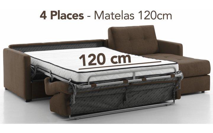Angles convertibles 4 pl. - 120 cm