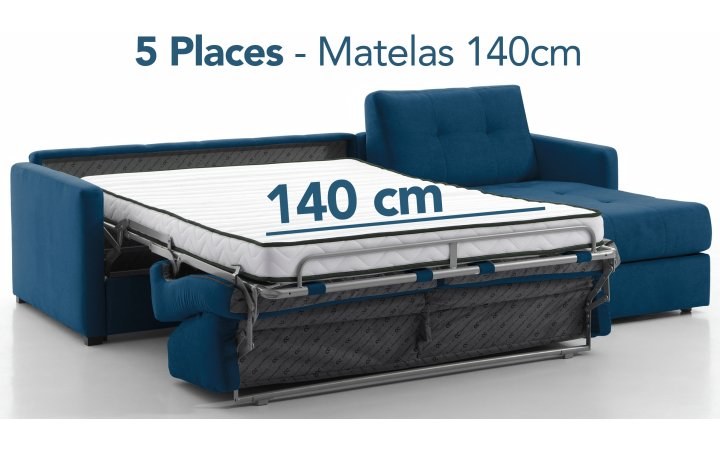 Angles convertibles 5 pl. - 140 cm