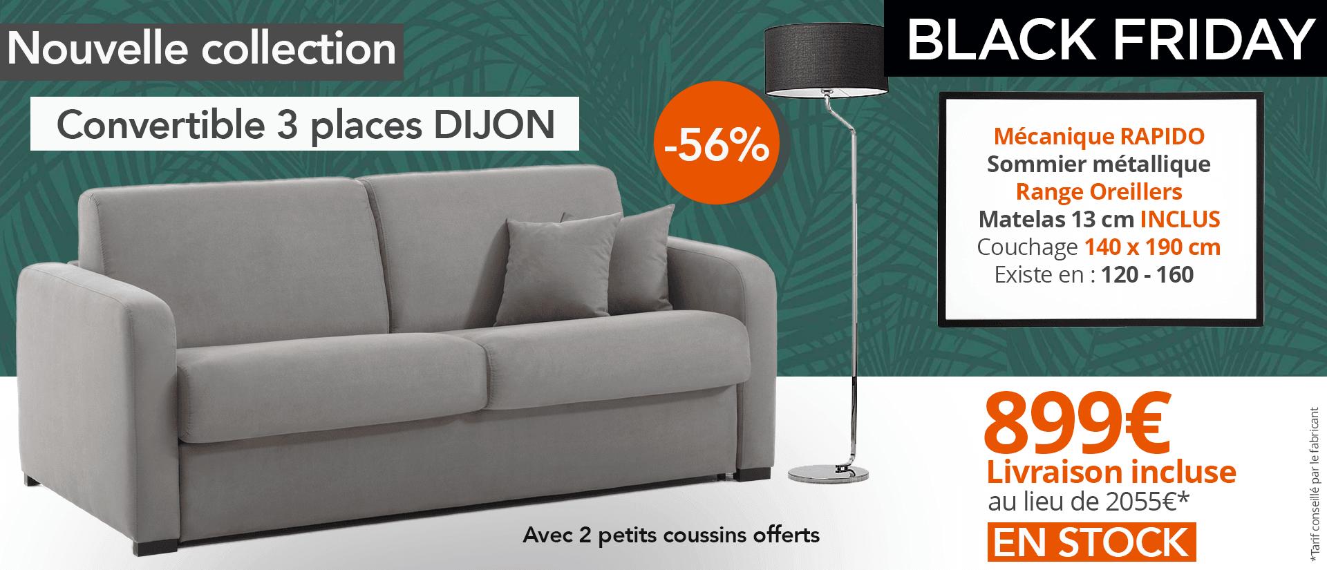 Canapé pas cher 3 places DIJON